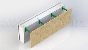 Комблок – блок несъемной опалубки с регулируемой шириной бетонного ядра стены. Предназначен для возведения стен домов и зданий по технологии монолитного строительства (ДБН В.2.6.-6-95). Комблок состоит из пенопластовой панели наружного утепления и внутренней гипсовой панели (которая не требует в дальнейшем штукатурной отделки) или съемной панели опалубки соединенных между собой регулируемой по пластиковой перемычкой.
