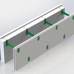 Блок несъемной комбинированной опалубки Комблок 100
