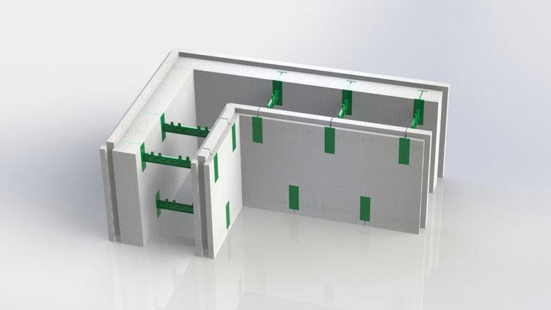 Блок несъемной опалубки - угловой разборной термоблок