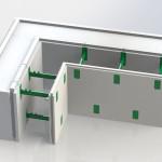 Угловой блок несъемной комбинированной опалубки Комблок 200