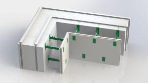 Угловой блок несъемной комбинированной опалубки Комблок 250