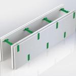 Блок несъемной комбинированной опалубки Комблок 50