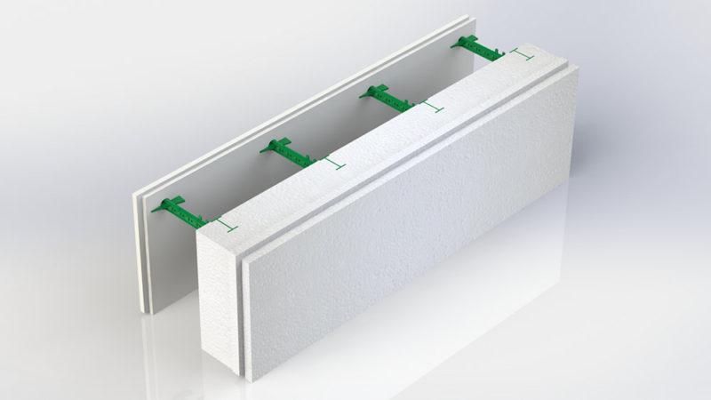 Блок несъемной комбинированной опалубки Комблок 150