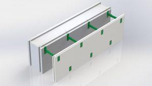 Блок несъемной комбинированной опалубки Комблок 200