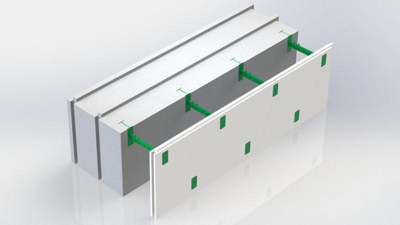 Блок несъемной комбинированной опалубки Комблок 300