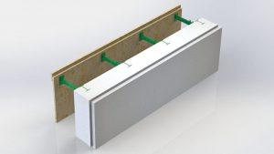 Блок несъемной комбинированной опалубки Комблок 150 к съемной опалубке
